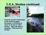 c e a studies continued3