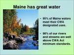 maine has great water