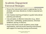 academic engagement universal strategies