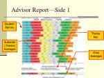 advisor report side 1