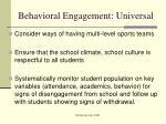 behavioral engagement universal3