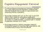 cognitive engagement universal2