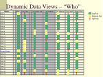 dynamic data views who