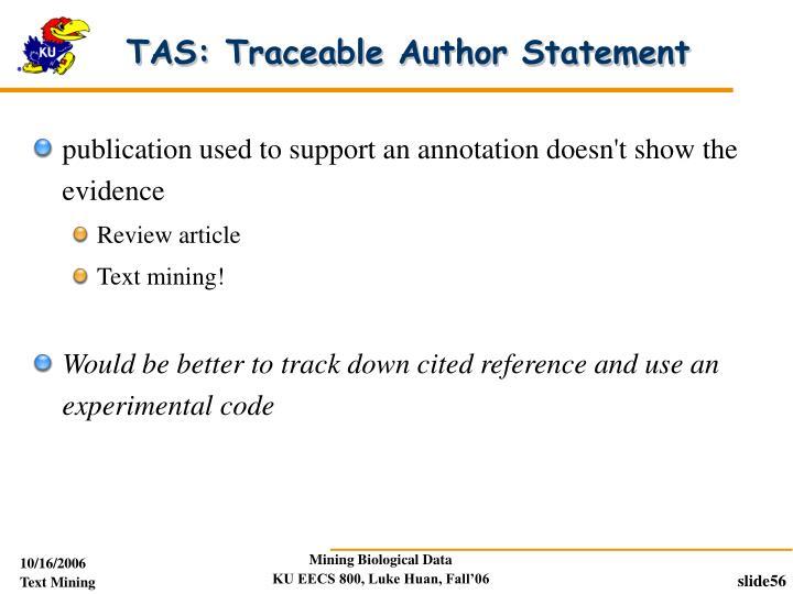 TAS: Traceable Author Statement