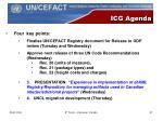 icg agenda
