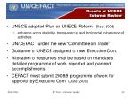 results of unece external review