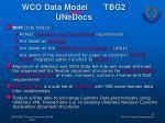 wco data model tbg2 unedocs