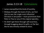 james 3 13 18 conclusions7