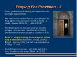 praying for provision 3