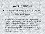 work experience10
