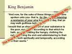 king benjamin