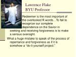 lawrence flake byu professor