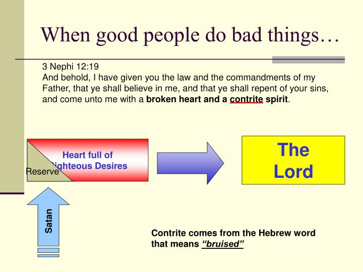 When good people do bad things…