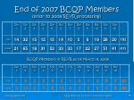 end of 2007 bcqp members prior to 2008 reyr processing