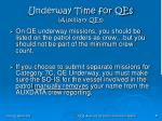 underway time for qes auxiliary qes