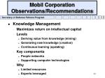 mobil corporation observations recommendations20