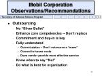 mobil corporation observations recommendations21