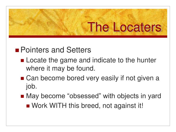The locaters