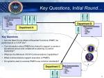 key questions initial round