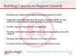 building capacity to support growth
