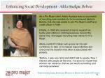 enhancing social development adela hualque bolivia