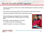 recent awards and recognition