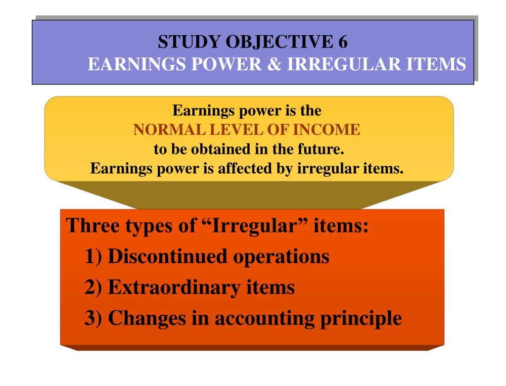 STUDY OBJECTIVE 6