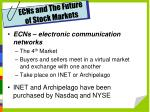 ecns and the future of stock markets