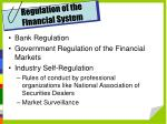 regulation of the financial system