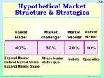 hypothetical market structure strategies