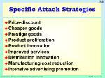 specific attack strategies