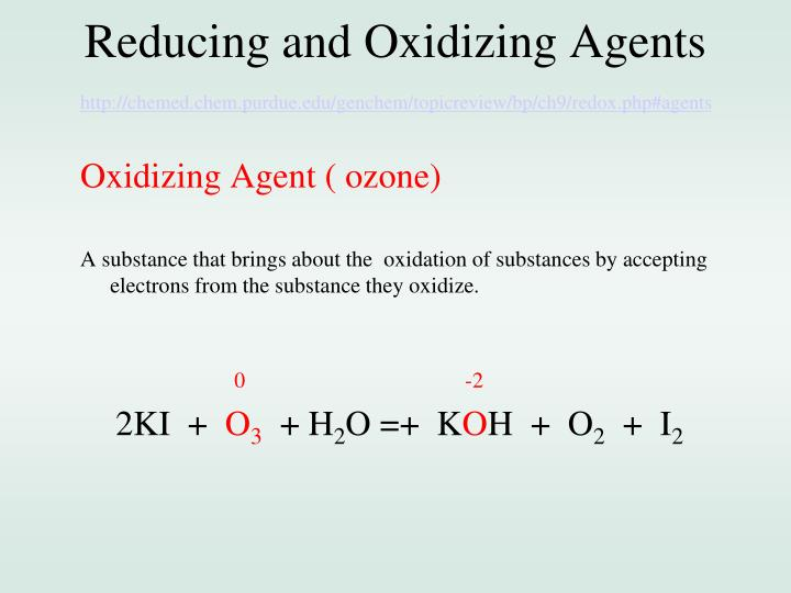 Reducing and Oxidizing Agents