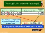 average cost method example