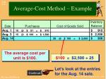 average cost method example1