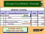 average cost method example2