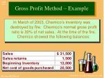 gross profit method example
