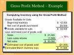 gross profit method example1