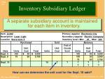 inventory subsidiary ledger