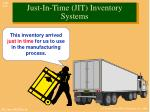 just in time jit inventory systems