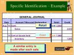 specific identification example2