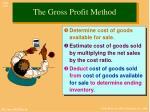 the gross profit method