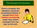 the principle of consistency
