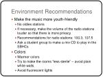 environment recommendations