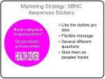 marketing strategy sbhc awareness stickers