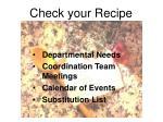 check your recipe1