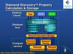 diamond discovery tm property calculation storage