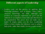 different aspects of leadership1