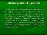 different aspects of leadership2