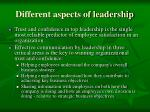 different aspects of leadership3