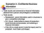 exemption 4 confidential business information